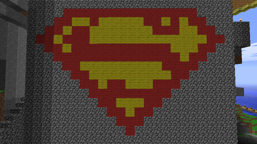 Minecraft Pixel Art Superman By Twistedanimations On