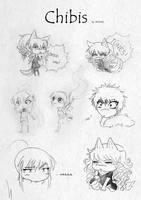 Chibi sketches by Ritusss