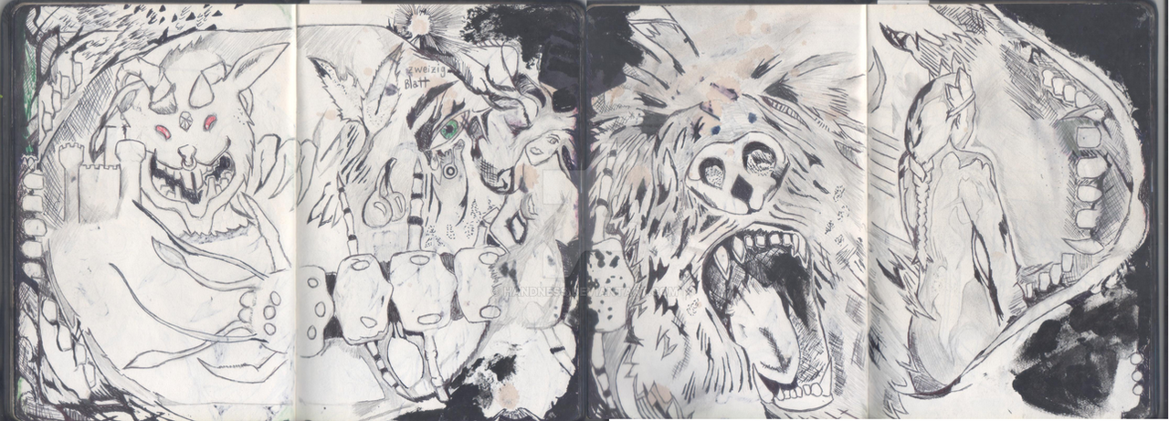 Sketchbook 01 - Dual Page by Handness