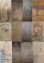 Ticketbook Sketchdump by ambi93