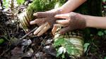 Copper gloves - process pic by MoxieBlacksmith