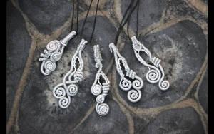 Aluminum whirls by MoxieBlacksmith