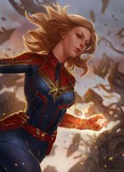 Captain Marvel by kamiyamark