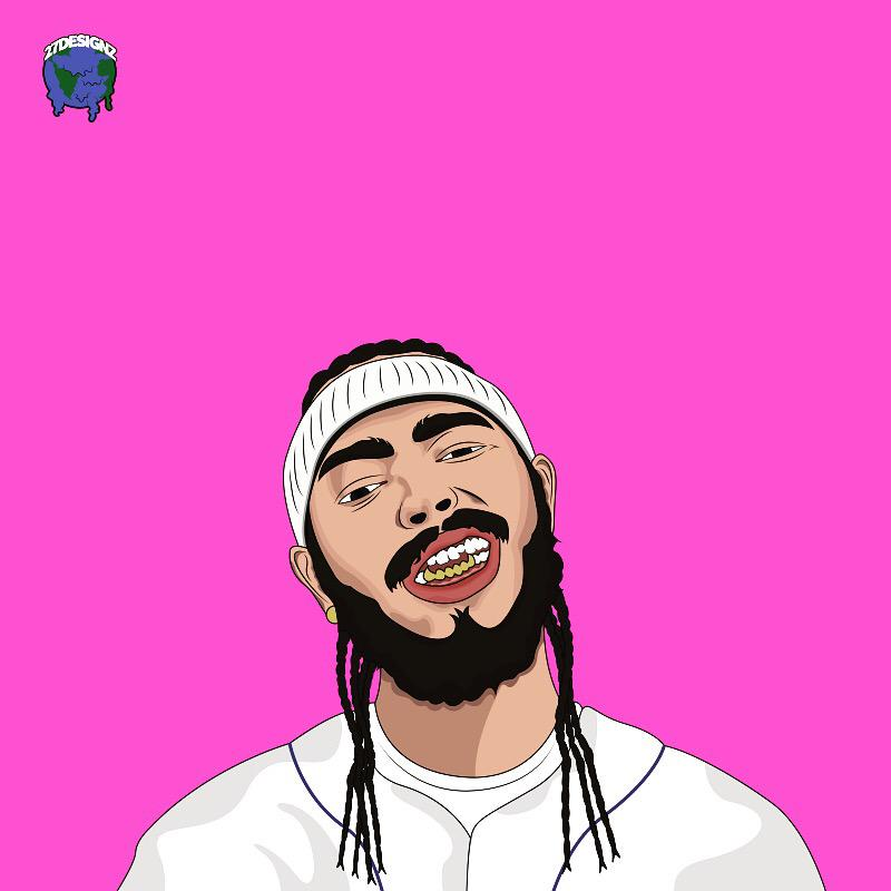 Post Malone Drawing: Post Malone Vector Artwork By 27designz By AsapMatt27 On