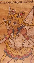 Sailor Moon Wood Burn