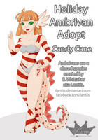 CLOSED Holiday Ambrivan: Candy Cane Ribbons by iLantiis