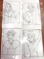 ACEO WIPs for StefBani by iLantiis