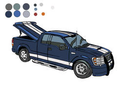 Ford Truck- Cartoonized colors by ChaosBurnFlame