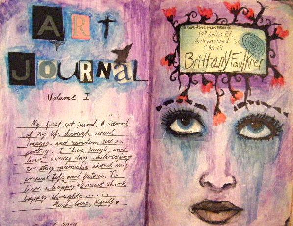 Intro page to Art Journal by eden-paradox