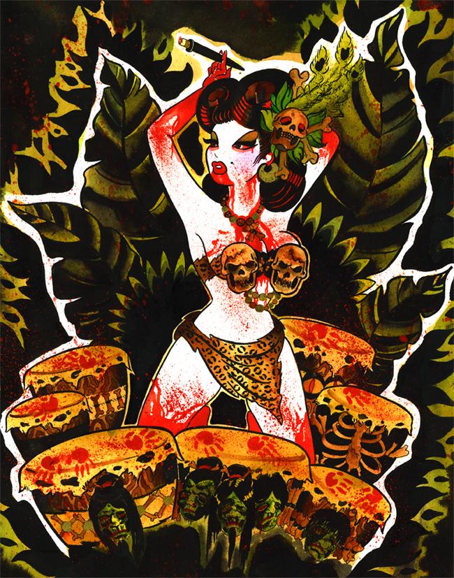 Voodoo Blood Bath by MummysLittleMonster