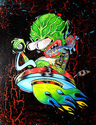 Spaced out Invader by MummysLittleMonster