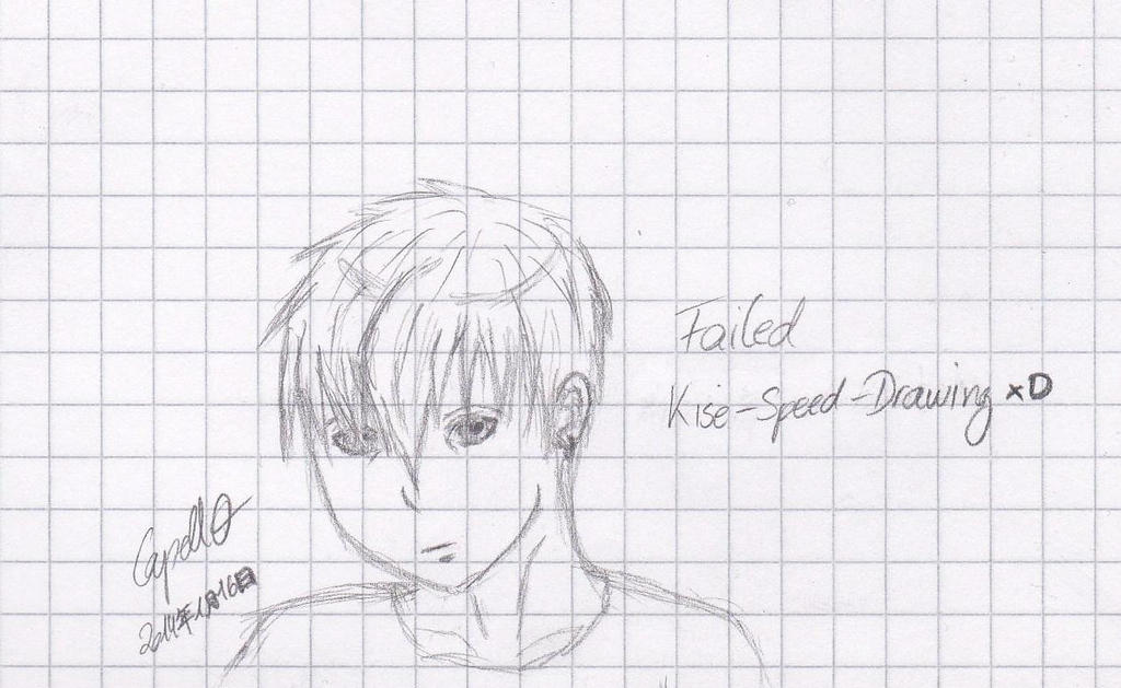 Kise Ryouta Speed-Drawing! Failed... by Capell0 on DeviantArt