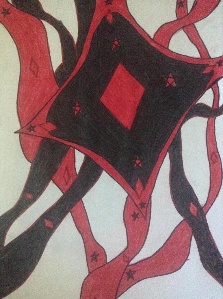 Black/Red Diamonds by DaKurlzzFan