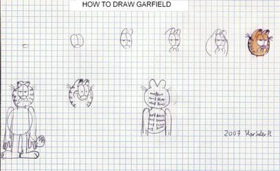 How to draw Garfield by RTJDudek