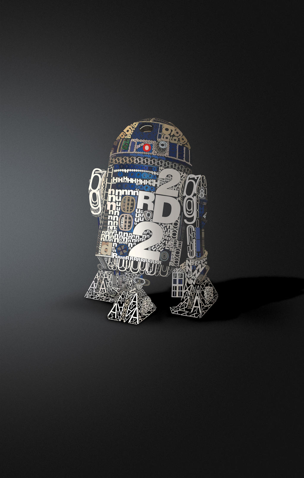 R2D2 in Helvetica by DavidBenoliel