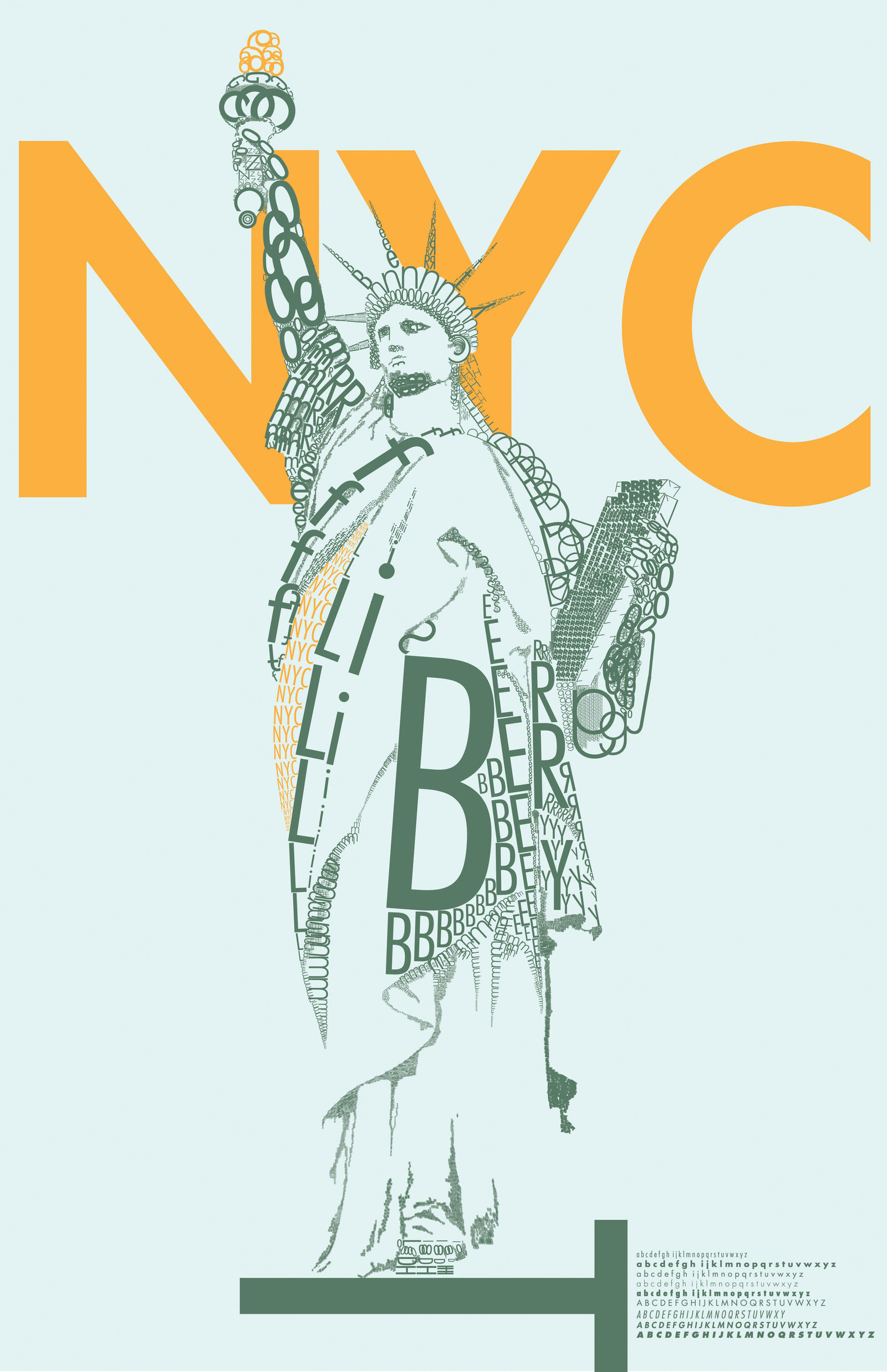 NYC poster made with letters - by DavidBenoliel