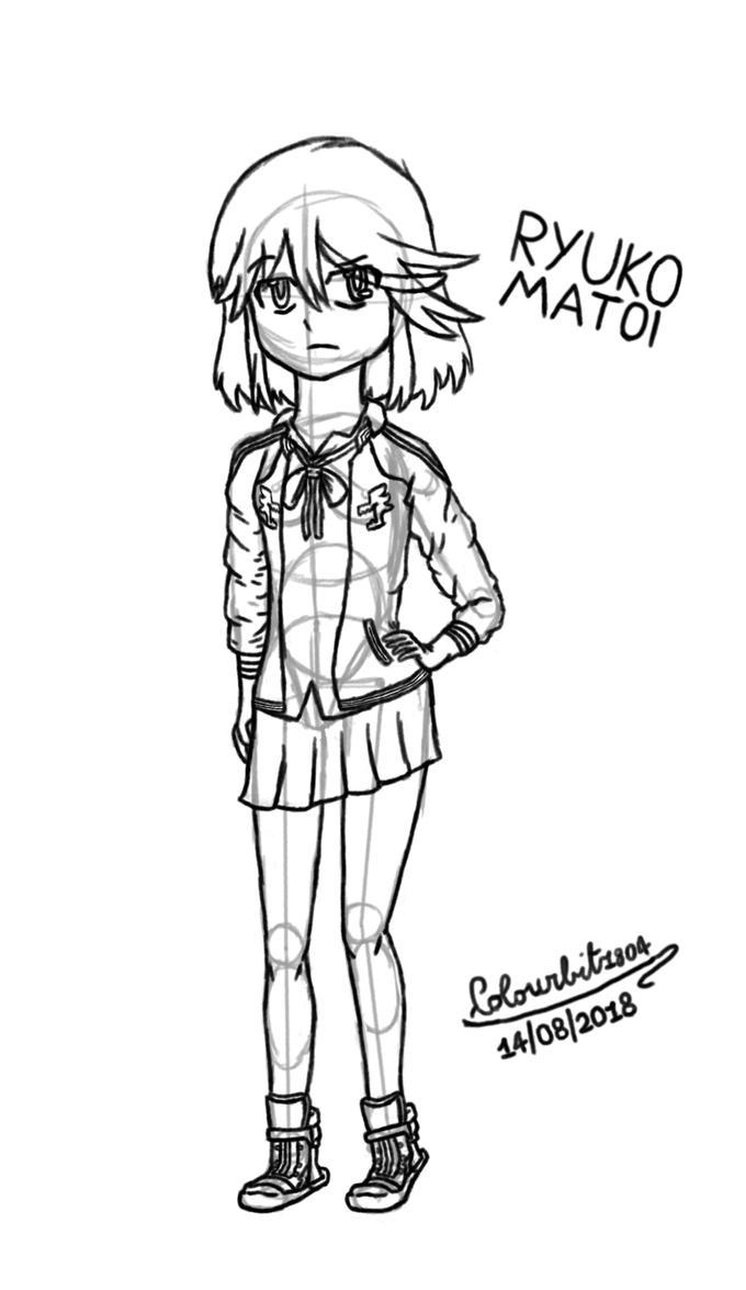 Ryuko Matoi sketch by Colourbit1804