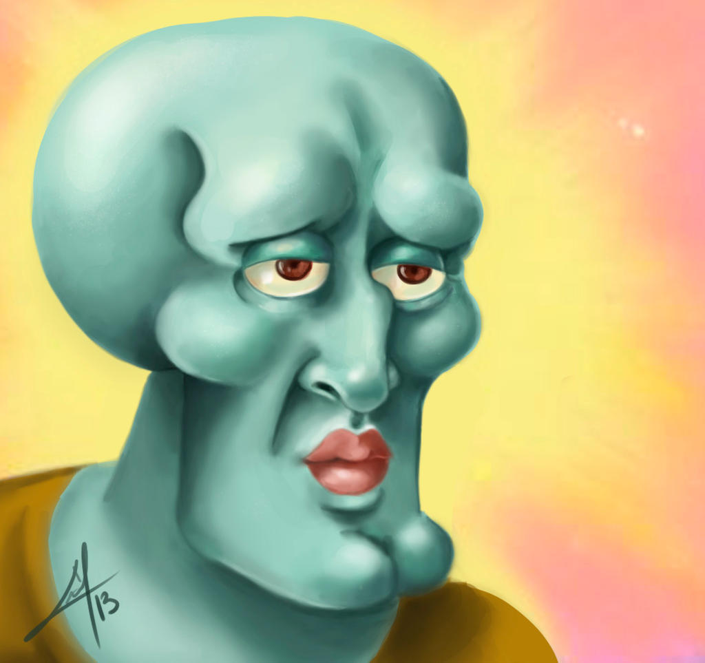 squidward handsome squidward by millegas on deviantart