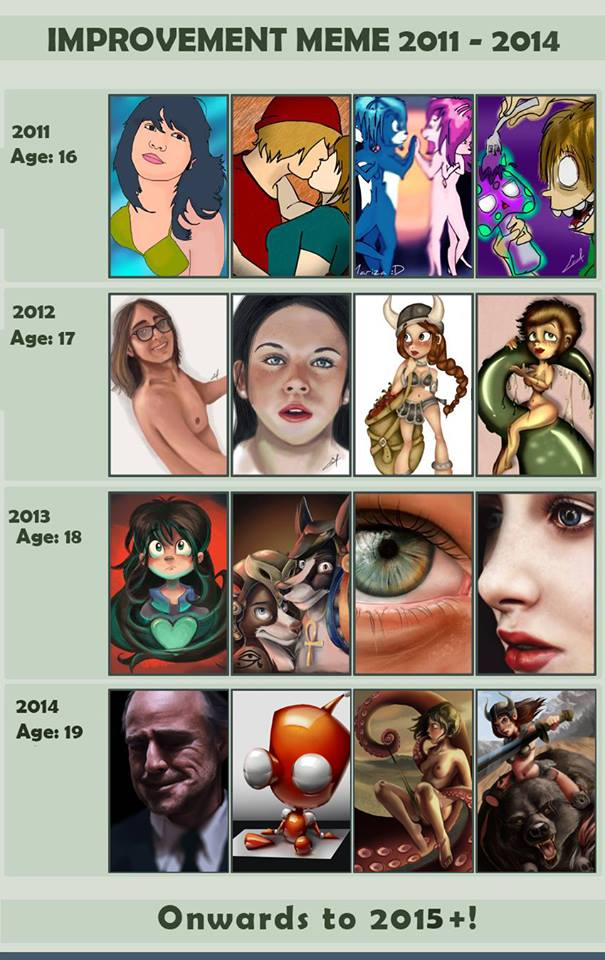 Improvement meme 2011 - 2014 by millegas