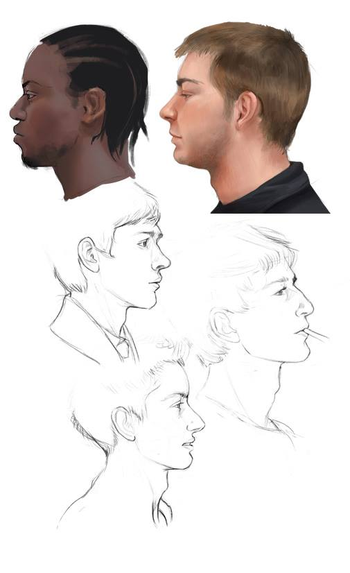 Faces practice by millegas