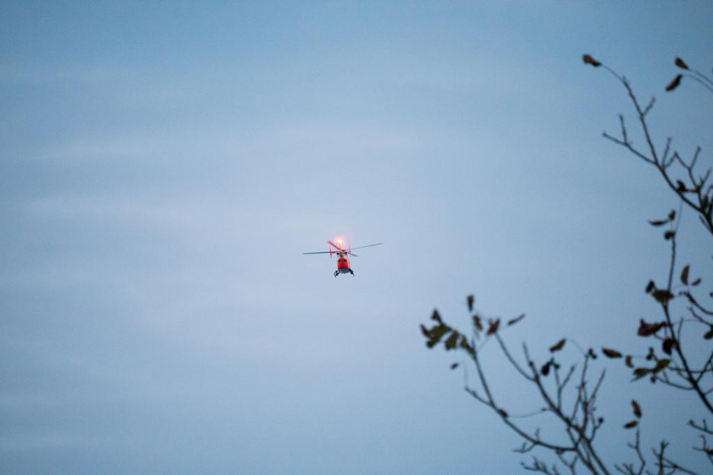 how to find out why a police helicopter is circling