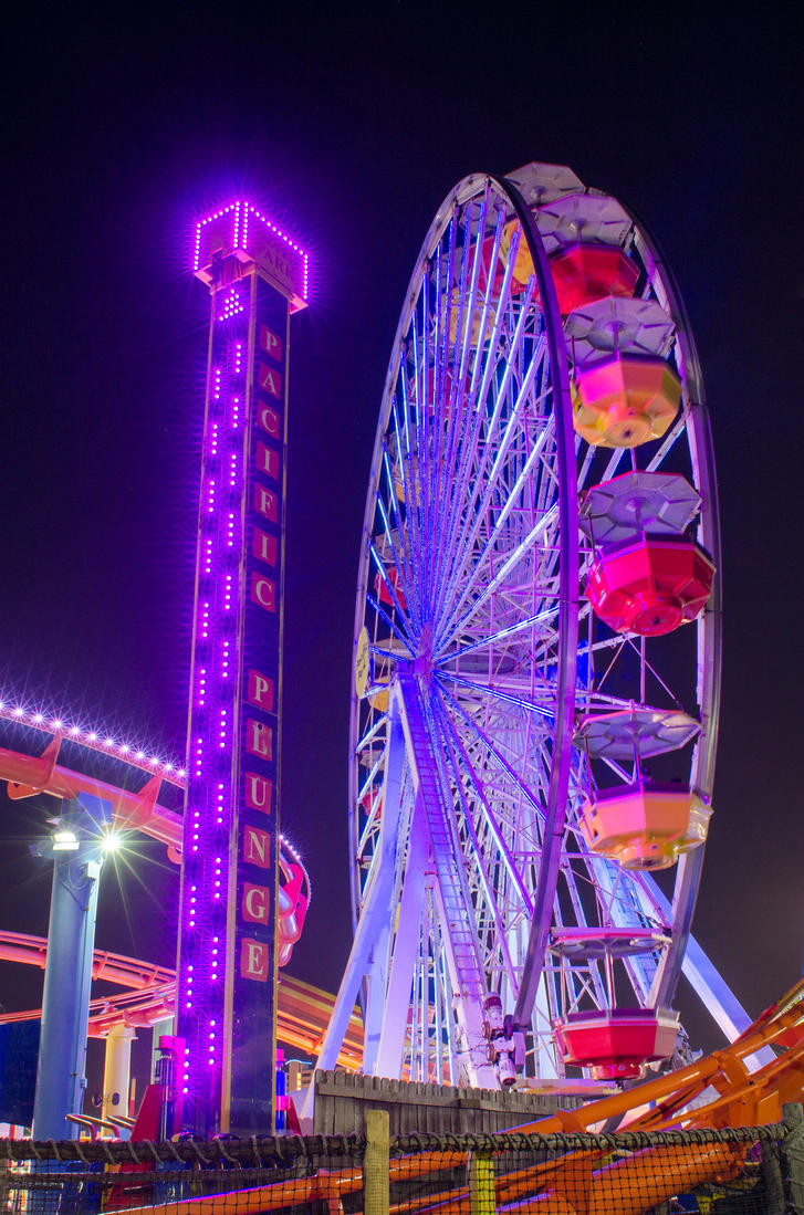 Night Time Fun At The Pier By Photo By Kristian On Deviantart
