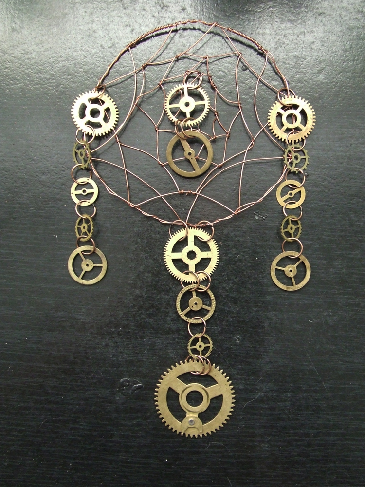 Steampunk dreamcatcher by pwcca87