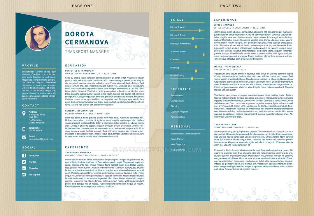 Mermaid - Resume Template by Naddar