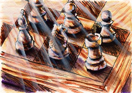 Postcard: Chess by universe-art