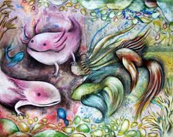 axolotl by muzRomz