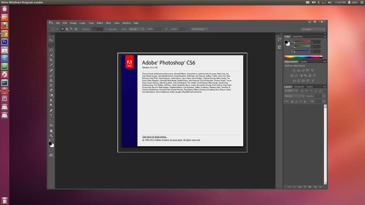 Ubuntu 12.4_LTS With Photoshop CS6 by MBOSSG
