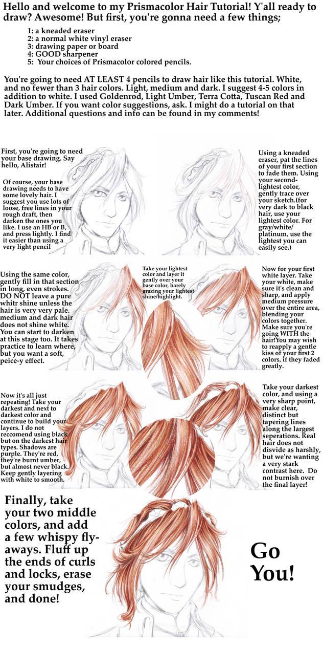 Prismacolor pencil hair tutorial by shondrea