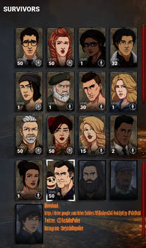 Dead by Daylight Survivor Icons