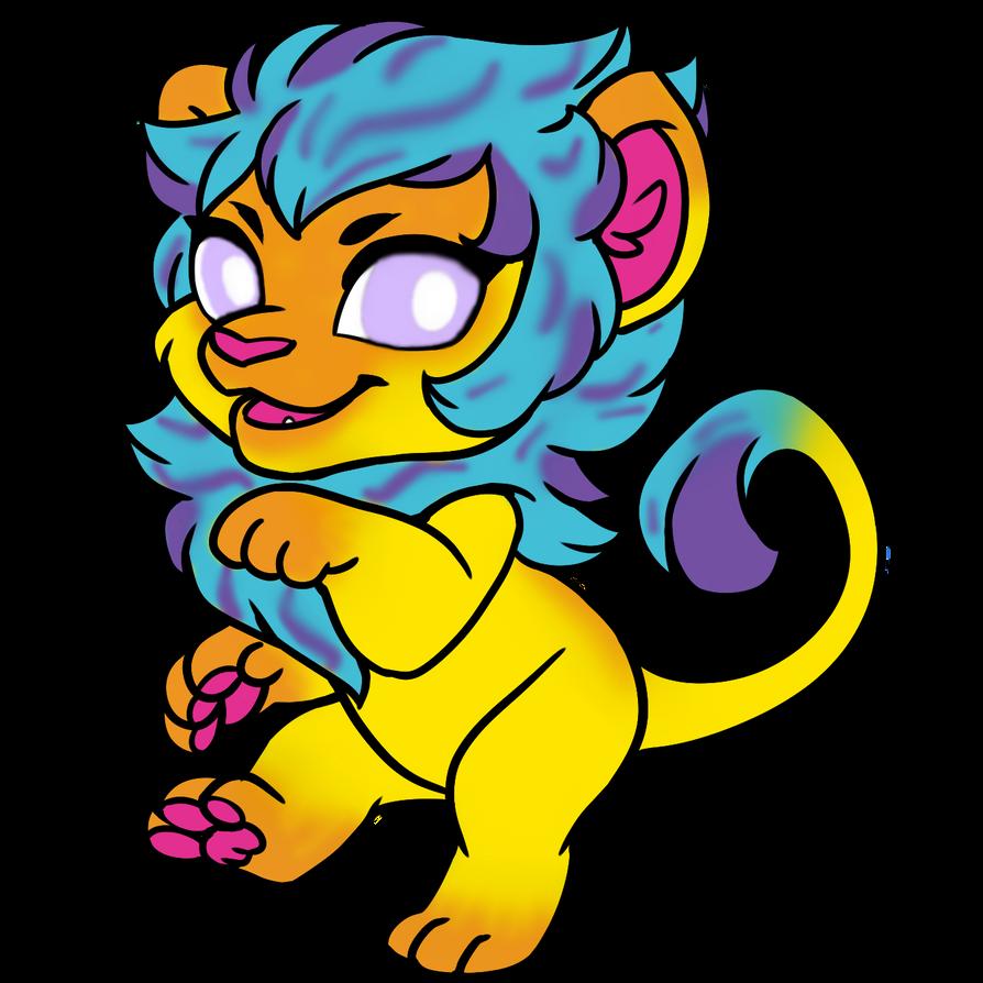 chibi_lion_non_binary_by_mineasaur44-dbj