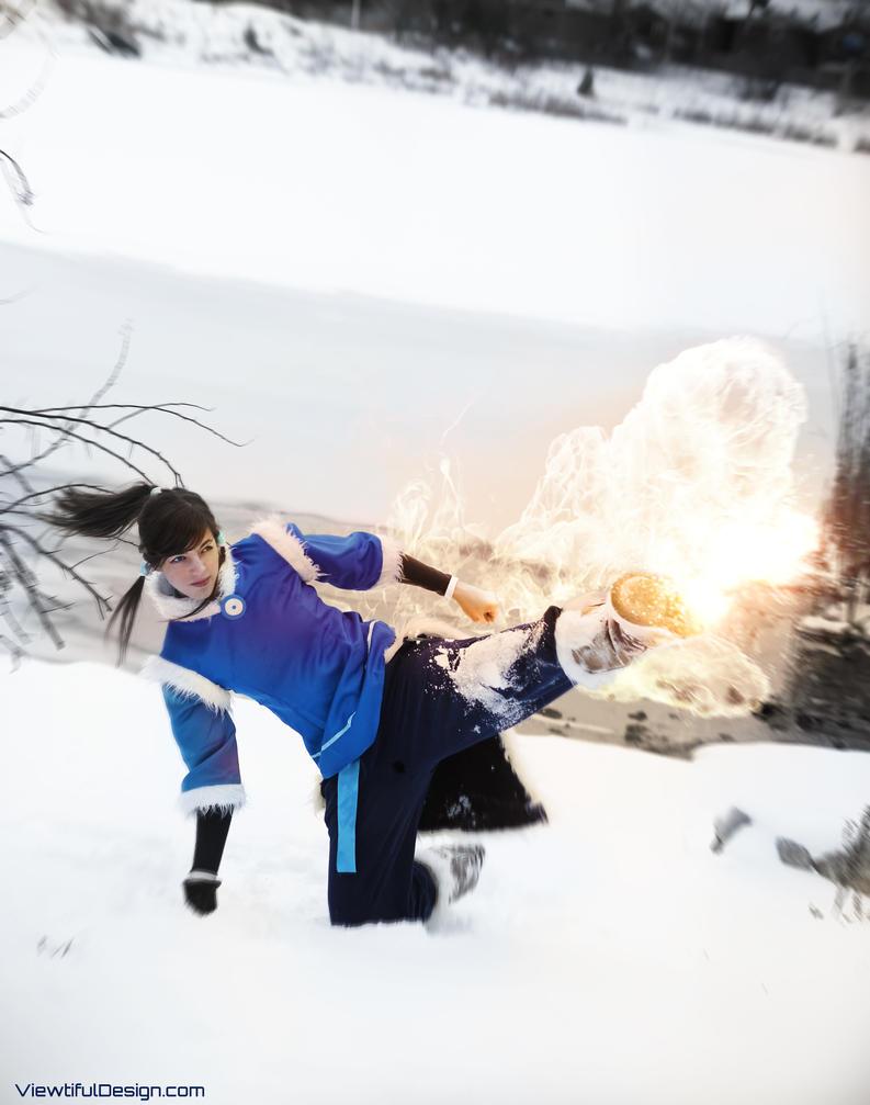 Korra. Fire Ferret Kick! by viewtifu1