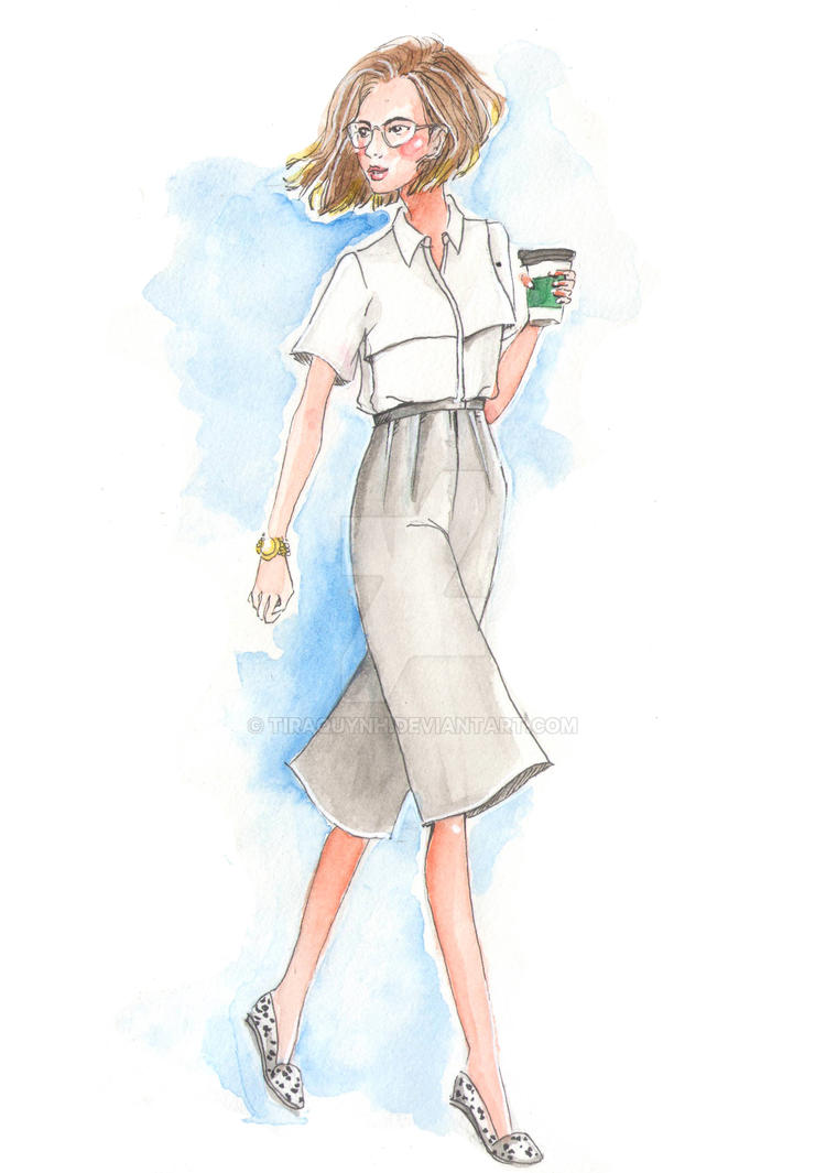 Fashion Illustration Street Style 2 By Tiraquynh On