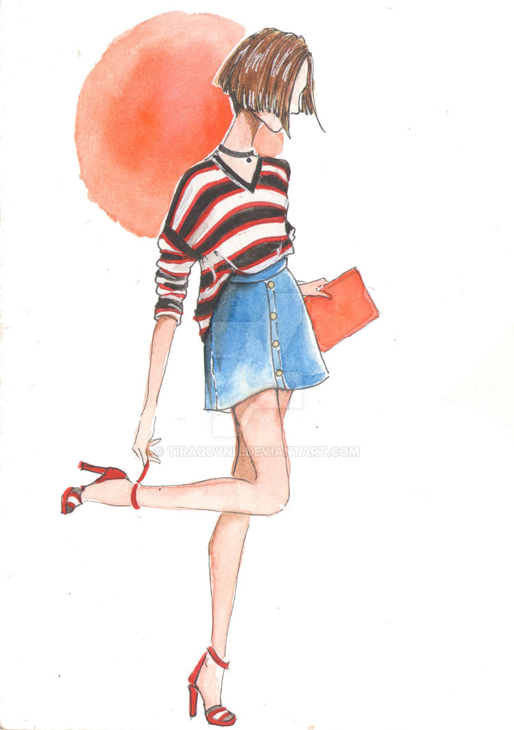Fashion Illustration Street Style 5 By Tiraquynh On