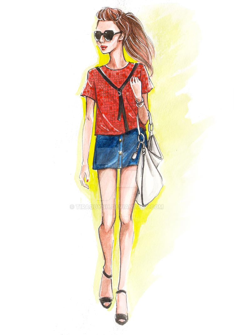 Fashion Illustration Street Style 6 By Tiraquynh On