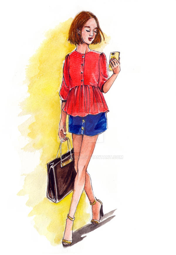 Fashion Illustration Street Style 8 By Tiraquynh On