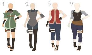 [open] naruto outfit adoptebles 1 by ShanaPhoobear