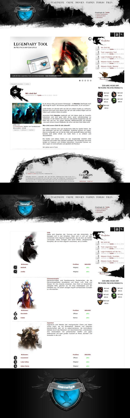 Guild Wars 2 Template for menelya.com by tyialo
