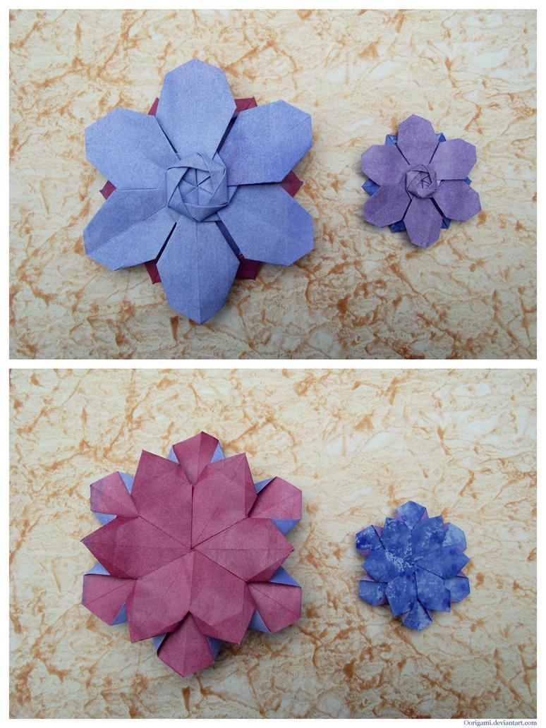 Flor de seis petalos by Oorigami