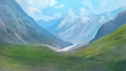 Mountain Range by Asurium