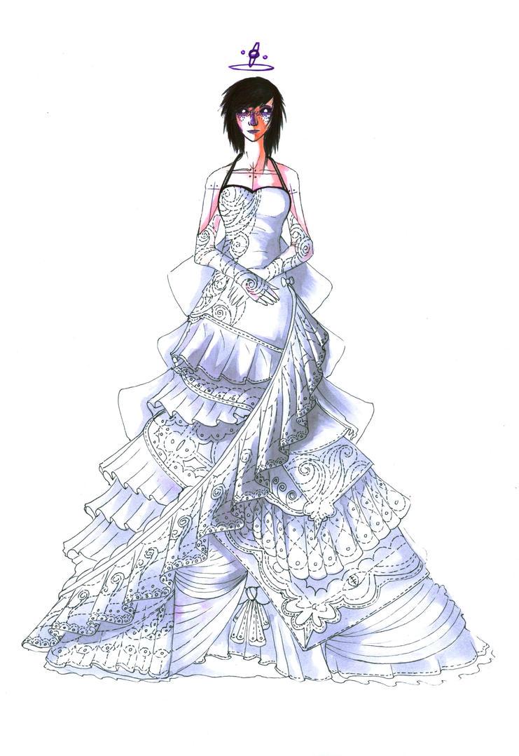 Katerina ekartina - wedding dress design by Antervantei