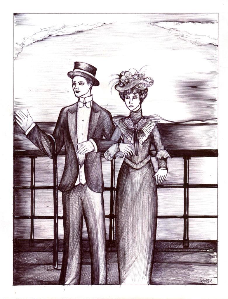 SGP - The edwardian era couple by Antervantei