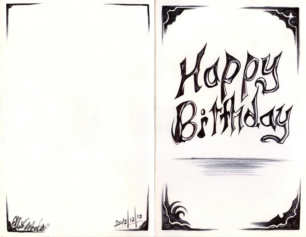 birthday card design  by antervantei on deviantart, Birthday card