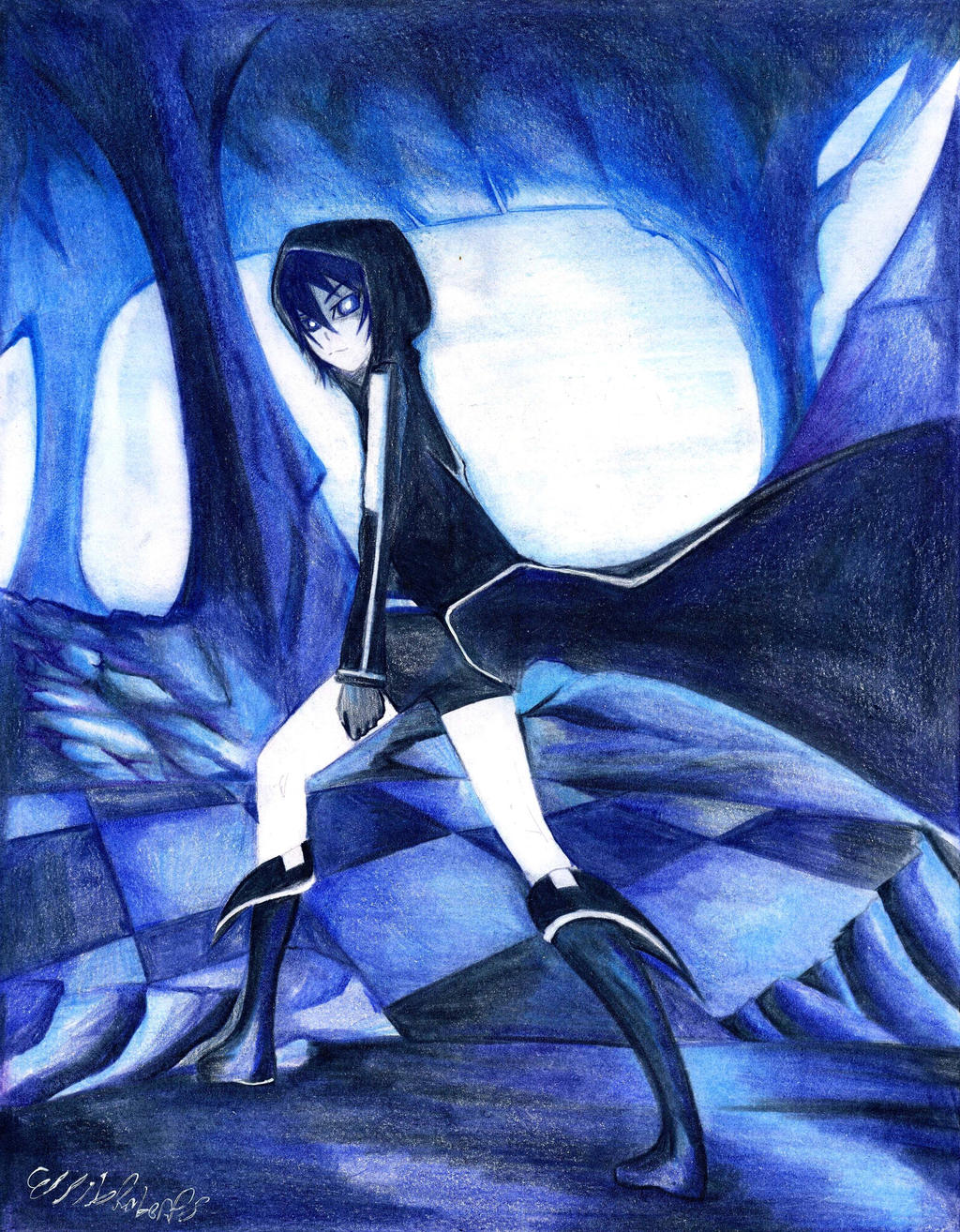 Black Rock Shooter - Waiting by Antervantei