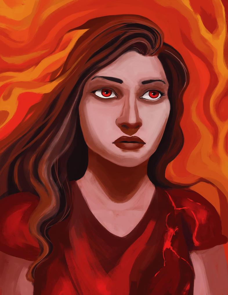 flame female by Antervantei