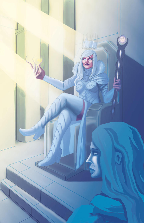 The ice queen by Antervantei