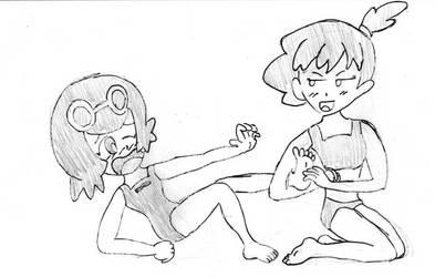 Suiren's training by buibui1